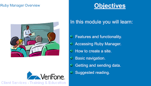 ruby manager overview copyright 2006 verifone inc all rights