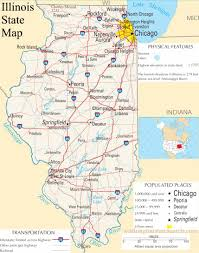 Washington State County Map by Illinois State Map A Large Detailed Map Of Illinois State Usa