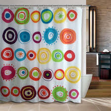 Circles Shower Curtain Riverbyland Shower Curtain Doodle Circles 72 X 80