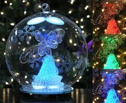 amazon com led glass globe christmas ornament angel figurine