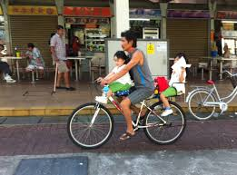 ferrari bicycle kids daily commute love cycling in singapore
