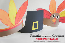 thanksgiving turkey indian and pilgrim crowns printable crush