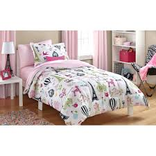 Black And White Twin Duvet Cover 3 Pieces Rabbit Deer Wouldland Forest Friends Flowers Pink Bedding
