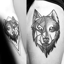 90 geometric wolf designs for manly ink ideas