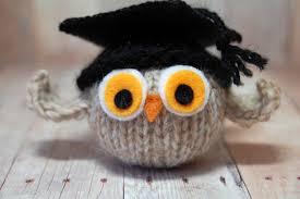 graduation owl knit owl with graduation cap graduation