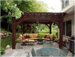 Swing Pergola Backyards Superb Red Cedar Standing Beam Pergolas Pictures On