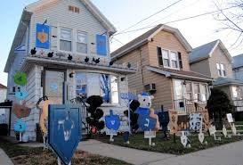 hanukkah lights decorations hanukkah in the house mill basin family brightens up the