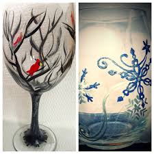 wine glass painting wine glass painting