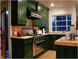 Two Colour Kitchen Cabinets Kitchen Awesome Furniture With Vintage Distressed Green Kitchen