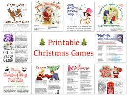 Christmas Games For Party Ideas - great deals on printable holiday games christmas games