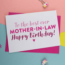 mother in law pod best mother in law birthday card by a is for alphabet