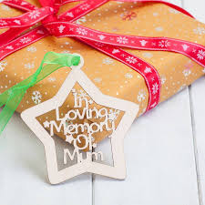 personalised birchwood in memory of christmas baubles by british