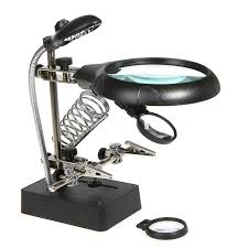 le de bureau loupe 2 5x 7 5x10x led loupe bureau loupe microscope loupe avec la lumière