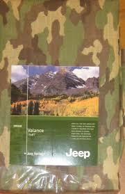 green camo jeep jeep heritage green camouflage camo boys bedroom valance curtain