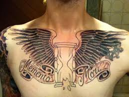 mens chest tattoos lettering 81 alluring wings tattoo on chest