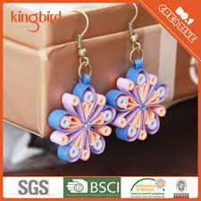 quiling earrings 2016 high quality paper jewelry in various quilling earrings
