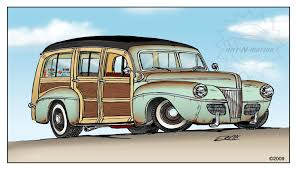 vintage surf car toon up the automotive art of mark ervin hemmings daily