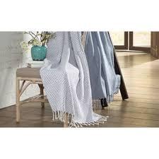 Luxurious Grey Seafoam Jacquard Waffle Cotton Blankets U0026 Throws You U0027ll Love Wayfair
