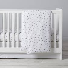 silver dot crib bedding the land of nod