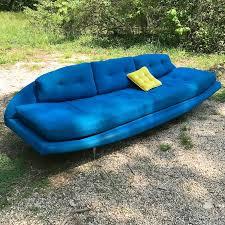 adrian pearsall craft associates blue gondola sofa 103x33x27 by