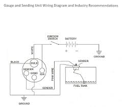 fuel gauge wiring diagram u0026 proper sending unit tank installation
