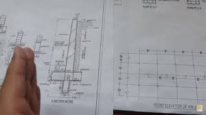 how to read retaining wall construction drawing at site youtube