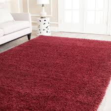 Colorful Shag Rugs Safavieh California Shag Maroon 6 Ft 7 In X 9 Ft 6 In Area Rug
