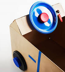 Easy Way To Build A Toy Box by Diy Cardboard Box Steering Wheel Car U2013 Top Easy Homemade Kid Craft