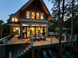 Hamill Creek Timber Homes Sugarloaf Dream Home 2013 Deck Lakes House And Small Pools