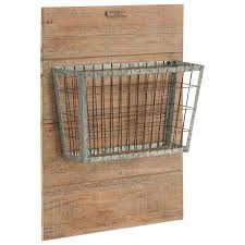 Joanna Gaines Products Magnolia Home By Joanna Gaines Accessories Metal Basket On Wood