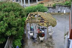 How To Build Tiki Hut Bamboo Roof Tiki Hut
