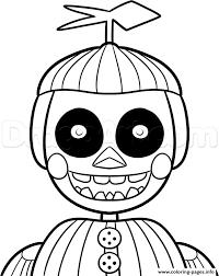phantom balloon boy phantom nights freddys fnaf coloring