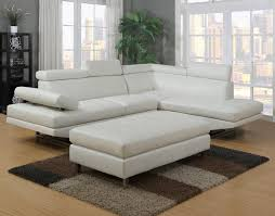 Modern White Bonded Leather Sectional Sofa Wonderful Modern White Leather Sectional Sofa Living Room