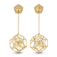 gold ear rings images dodecahedron gold earrings in the pursuit