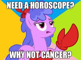 Cancer Horoscope Memes - 213564 cancer horoscope crab futurama meme ponyscopes