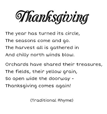 a thanksgiving poem festival collections