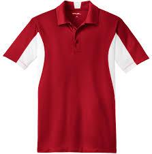 custom mens side blocked micropique sport wick coaches polo shirt