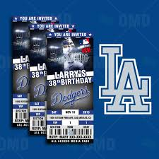 sports invites 2 5 6 u2033 los angeles dodgers sports party invitations