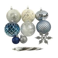 clear christmas ornaments smith 50ct shatterproof christmas ornaments midnight clear