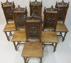 Gothic Dining Room Furniture French Antique Chairs Gothic Renaissance And Louis Xiv Styles