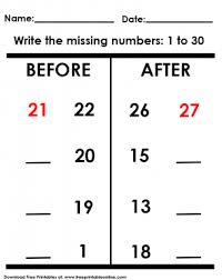before and after missing numbers worksheet math u0026 more