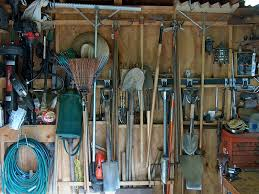 how to hang tools in shed the kester house garden garden shed