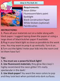 glow in dark invitations fun activities to enjoy with your kids during the earth hour