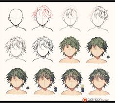 hair sketch to coloring by kawacy on deviantart