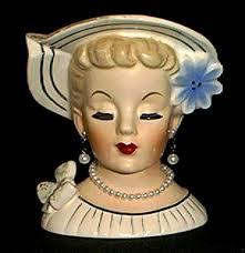 114 best lady head vases images on pinterest head planters