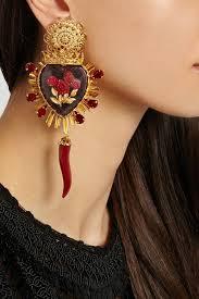 sacred heart jewelry dolce and gabbana sacred heart earrings pinteres