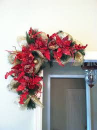 poinsettia pomegranate door frame swags with
