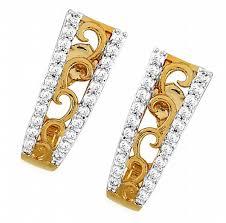 daily wear diamond earrings daily wear earrings designs 0 85 ct certified gold