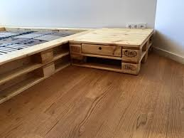 pallet platform bed with nightstands pallet furniture diy