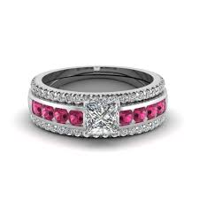 lively wedding band wedding rings pink wedding band pink sapphire band pink
